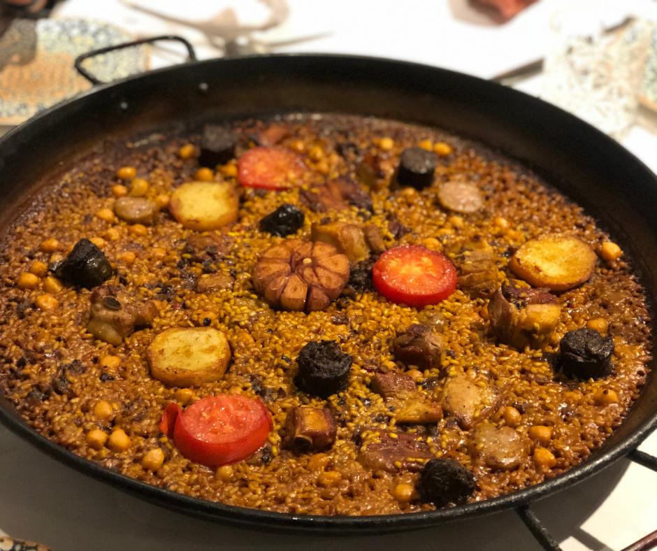 Paella de Arroz al horno en Valencia