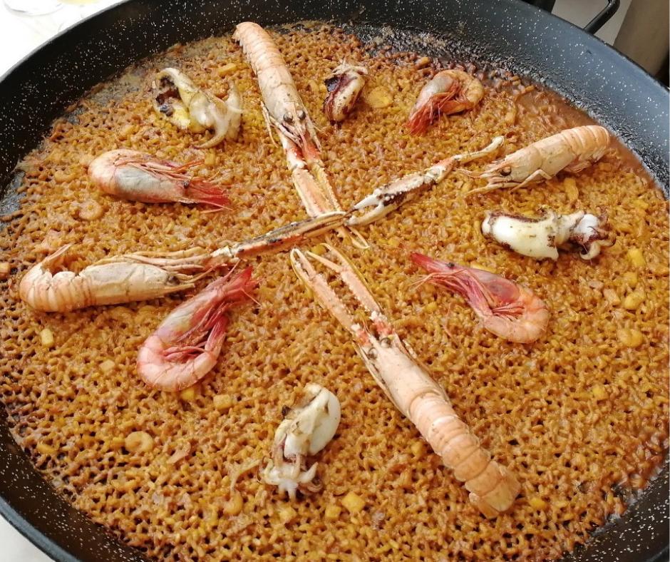Paella de marisco Valencia
